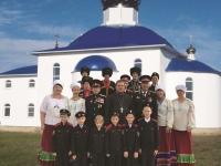 Встреча школьников с казаками
